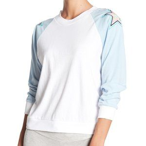 WILDFOX Star Embroidered Color Block Raglan Tee